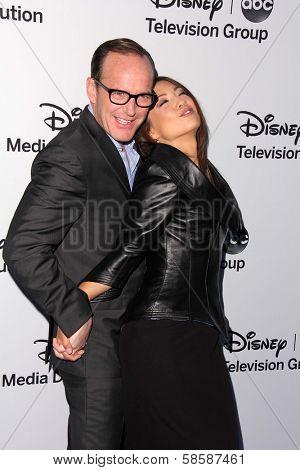 Clark Gregg and Ming-Na Wen at the Disney Media Networks International Upfronts, Walt Disney Studios, Burbank, CA 05-19-13