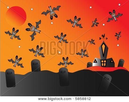 Bats Around Church
