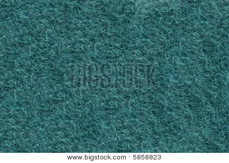 Close-up Of Teal Synthetic Fibrous Surface