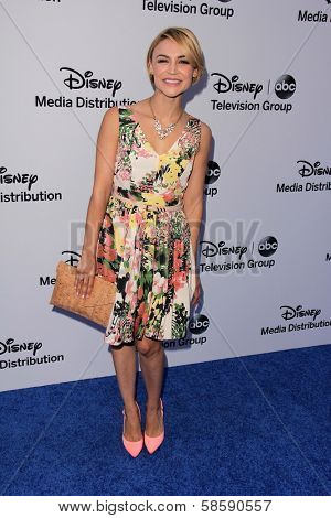 Samaire Armstrong at the Disney Media Networks International Upfronts, Walt Disney Studios, Burbank, CA 05-19-13