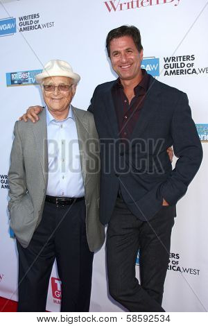 Norman Lear and Steven Levitan at the WGA's 101 Best Written Series Announcement, Writers Guild of America Theater, Beverly Hills, CA 06-02-13