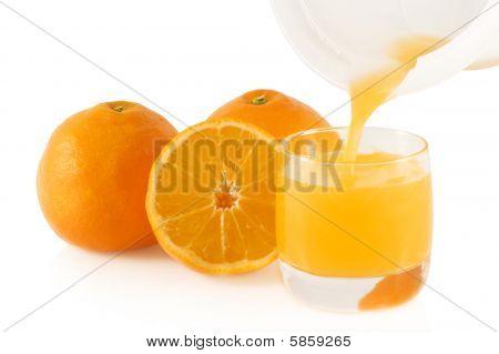 Pouring Fresh Orange Juice.