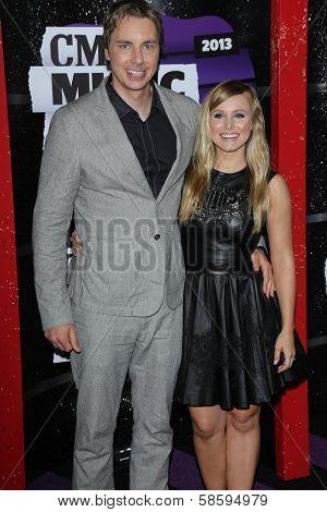 Dax Shepard and Kristen Bell at the 2013 CMT Music Awards, Bridgestone Arena, Nashville, TN 06-05-13