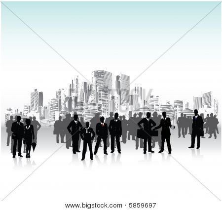 Business people crowd