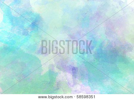 Soft Sweet Turquoise Watercolor Background.