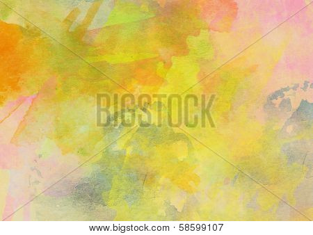 Sweet Yellow Watercolor Background.