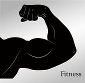 stock photo of bicep  - Cartoon biceps  - JPG