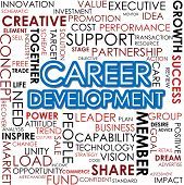 foto of self assessment  - Career development word cloud image with hi - JPG