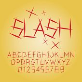 foto of cleaving  - Set of Abstract Slash Alphabet And Digit Vector - JPG
