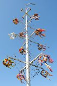 Maypole In Aland Islands.
