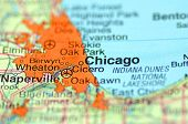 stock photo of illinois  - A closeup of Chicago - JPG