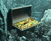 stock photo of treasure  - underwater treasure - JPG