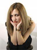 Portrait Of Blond Girl poster