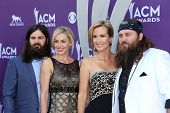 Jessica Robertson, Korie Robertson, Willie Robertson and Jep Robertson of Duck Dynasty at the 48th A