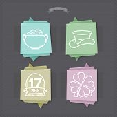 foto of v-day  - Celebrating irish St. Patric day concept included icons from left to right top to bottom: 