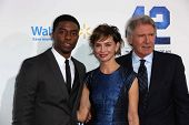 Chadwick Boseman, Calista Flockhart and Harrison Ford at the