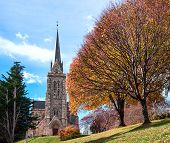 stock photo of negro  - Cathedral of the city of Bariloche Patagonia Argentina - JPG