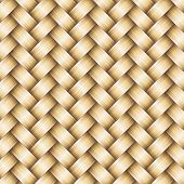 pic of baste  - Vector wickerwork golden metallic seamless pattern background - JPG