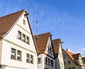 stock photo of gable-roof  - Gable roof of traditional German half - JPG