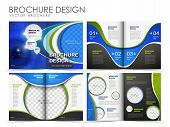 pic of brochure  - Template of brochure design with spread pages - JPG