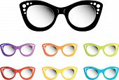 picture of uv-light  - Vintage cat eye eye wear for ladies - JPG