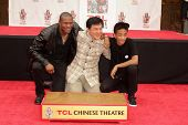 Chris Tucker, Jackie Chan and Jaden Smith at the Jackie Chan Hand and Foot Print Ceremony, TCL Chine
