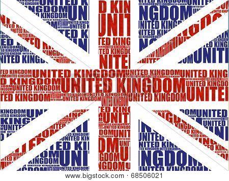 Union Jack Word Montage
