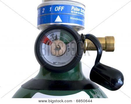 Sauerstoff-Regler und Druck dial