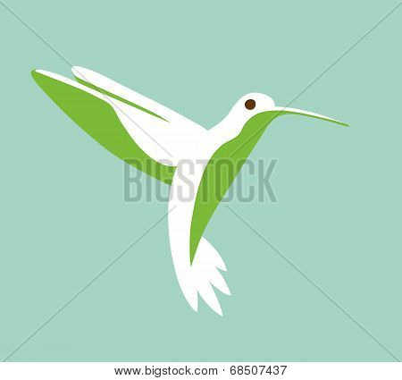 Hummingbird Stylized Simplistic Graphic Symbol