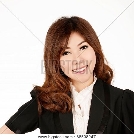 Asian Woman. Smiling