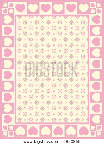 Vector Heart Border with Victorian Eyelet Copy Space