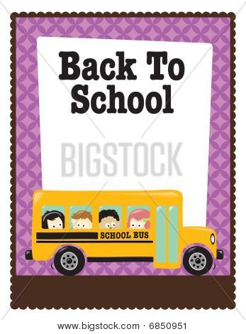 8.5x11 Back to school flyer w/ bus and kids