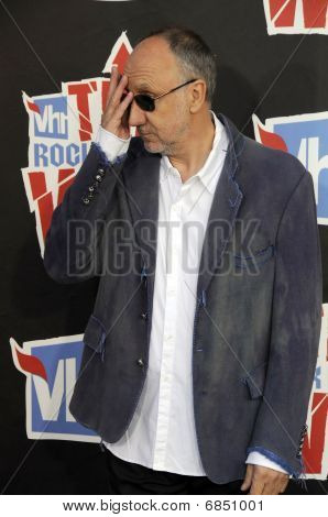 Pete Townshend on the red carpet.
