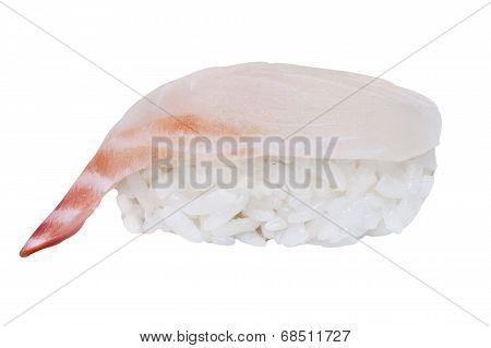 Black Sea Bream Sushi Isolated On White Background