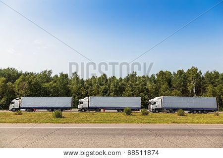 Trucks On The Road