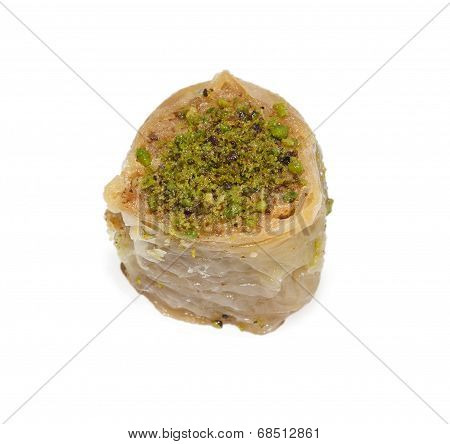 One Baklava With Pistachios
