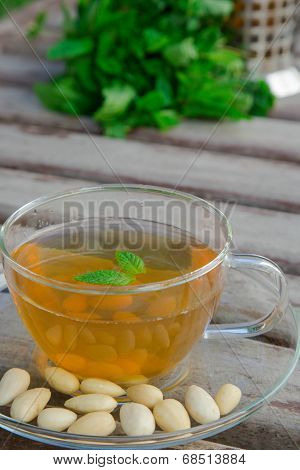 Traditional Tunisian Green Tea With Peppermint And Nuts