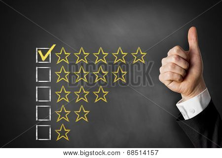 Thumbs Up Rating Stars