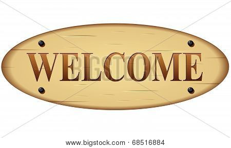 Vector Welcome Wood Sign