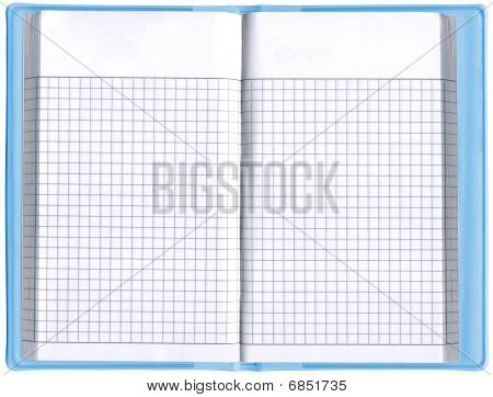 One Blank Notepad Organizer, Empty Spreadsheet, Isolated
