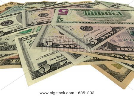 Heap, New Dollars Isolated On White, Savings Wealth