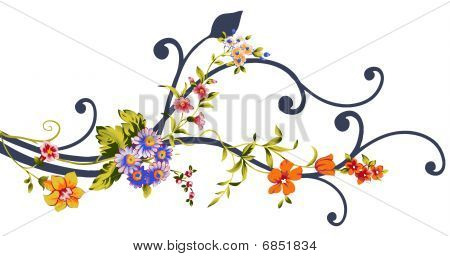 flowers and vines
