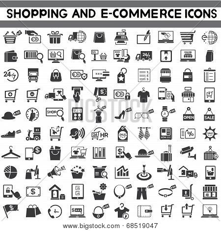 e-commerce icons, shopping, marketing icons