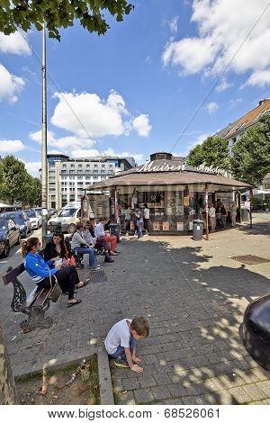 Brussels City Life At Lunch Time