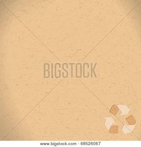 Realistic Recycled Paper With Recycling Symbol Copy Space