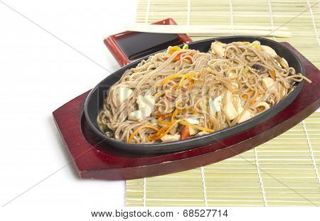 Soba Noodles With Seaweeds