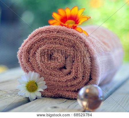 Towel Candle Flowers