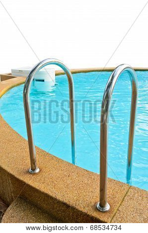 Swimming Pool Isolated On White.