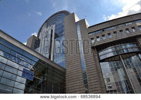 European Parliament building in Brussels, Belgium