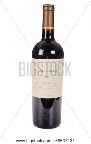 HAYWARD, CA - July 16, 2014: 2008 Anthony August proprietary red  wine